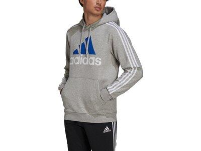 adidas Herren Essentials Fleece 3-Streifen Logo Hoodie Grau