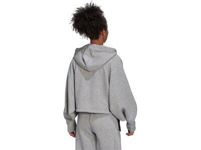adidas Damen Sportswear Studio Lounge Fleece Hoodie Silber