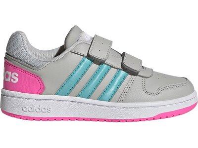adidas Kinder Hoops 2.0 Schuh Silber