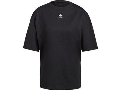 adidas Damen LOUNGEWEAR Adicolor Essentials T-Shirt Schwarz