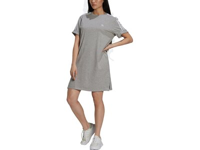 adidas Damen Adicolor Classics Roll-Up Sleeve T-Shirt-Kleid Grau