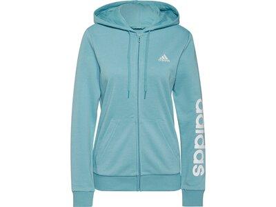 adidas Damen Essentials Logo Kapuzenjacke Blau