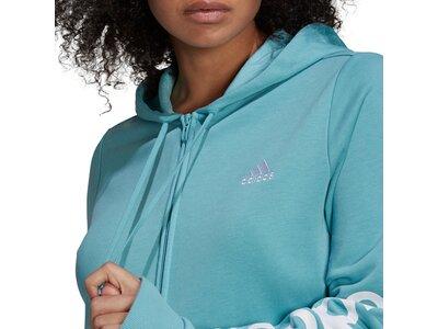 adidas Damen Essentials Logo Kapuzenjacke – Große Größen Blau