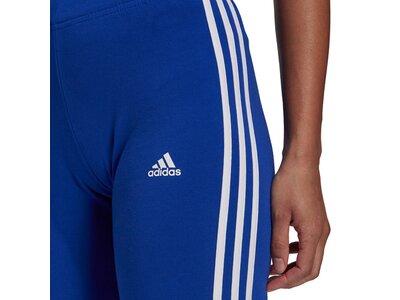 adidas Damen Essentials 3-Streifen kurze Tight Blau