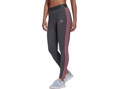 adidas Damen LOUNGEWEAR Essentials 3-Streifen Leggings Grau