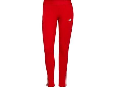adidas Damen LOUNGEWEAR Essentials 3-Streifen Leggings Rot