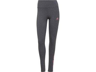 adidas Damen Essentials High-Waisted Logo Leggings Grau
