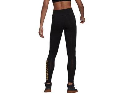 adidas Damen Essentials High-Waisted Logo Leggings Schwarz