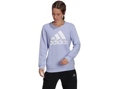 adidas Damen Essentials Relaxed Logo Sweatshirt Silber