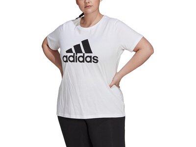 adidas Damen Essentials Logo T-Shirt – Große Größen Grau