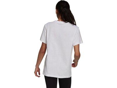 adidas Damen Essentials Boyfriend 3-Streifen T-Shirt Silber
