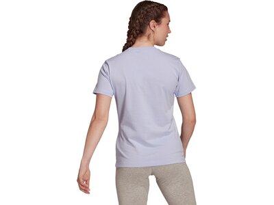 adidas Damen Loungewear Essentials Logo T-Shirt Silber