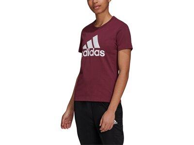 adidas Damen Loungewear Essentials Logo T-Shirt Rot