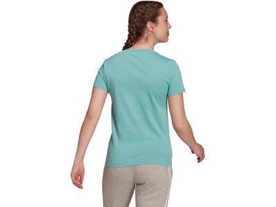 adidas Damen Essentials Slim Logo T-Shirt Blau