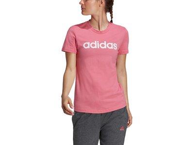 adidas Damen Essentials Slim Logo T-Shirt Pink