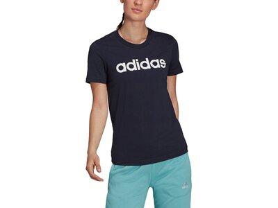 adidas Damen Essentials Slim Logo T-Shirt Schwarz