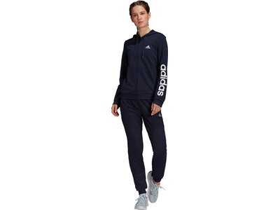 adidas Damen Essentials Logo French Terry Trainingsanzug Schwarz