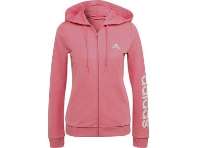adidas Damen Essentials Logo French Terry Trainingsanzug Pink