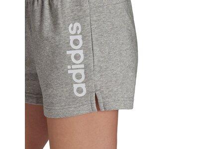 adidas Damen Essentials Slim Logo Shorts Silber