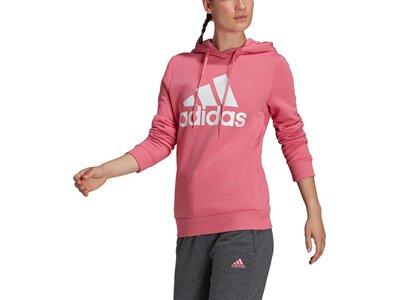 adidas Damen LOUNGEWEAR Essentials Logo Fleece Hoodie Pink