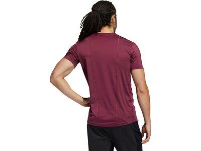 adidas Herren Techfit 3-Streifen Fitted T-Shirt Lila