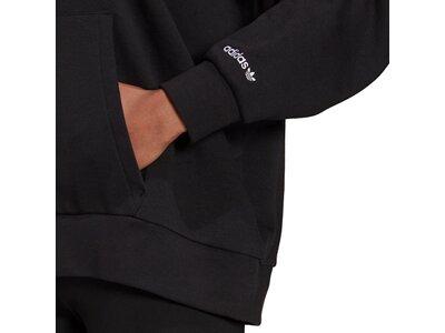 adidas Damen adicolor Shattered Trefoil Oversize Hoodie Schwarz