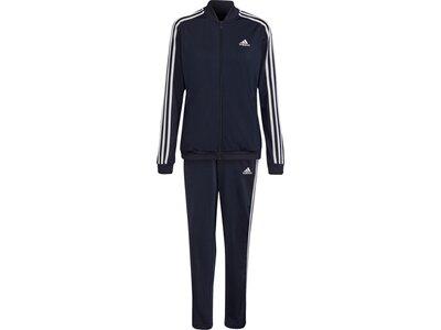 adidas Damen Essentials 3-Streifen Trainingsanzug Schwarz