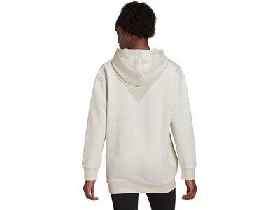 adidas Damen Essentials Oversize Fleece Hoodie pink