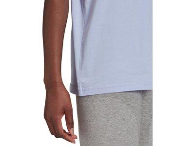adidas Damen Essentials 3-Streifen T-Shirt Blau