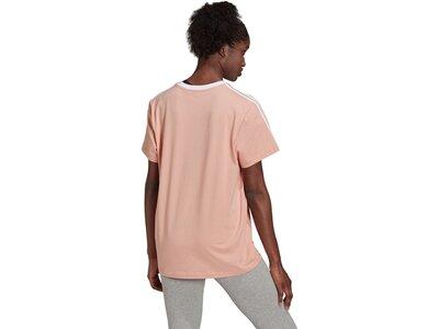 adidas Damen Essentials 3-Streifen T-Shirt Pink