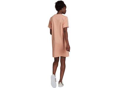 adidas Damen Essentials Loose 3-Streifen Kleid Braun