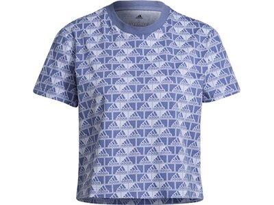adidas Damen Brand Love Cropped T-Shirt Grün