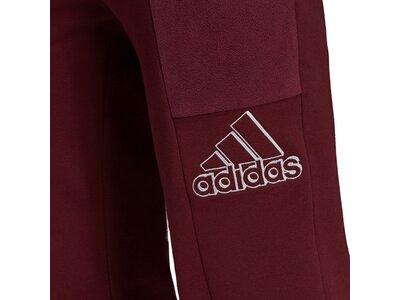 adidas Damen Brand Love Embroidered Logo Hose Lila