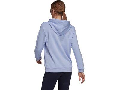 adidas Damen Brand Love Slanted Logo Relaxed Hoodie Blau