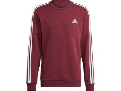 adidas Herren Essentials Fleece 3-Streifen Sweatshirt Rot