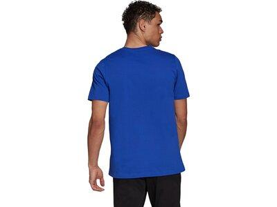 adidas Herren Essentials Big Logo T-Shirt Blau