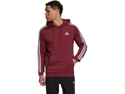 adidas Herren Essentials Fleece 3-Streifen Hoodie Rot