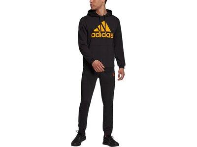 adidas Herren AEROREADY Essentials Kangaroo Pocket Big Logo Trainingsanzug Schwarz