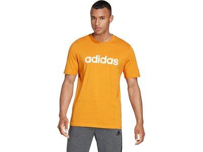 adidas Herren Essentials Embroidered Linear Logo T-Shirt Orange