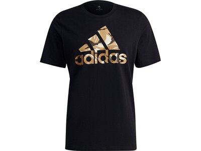 adidas Herren Essentials Camouflage Print T-Shirt Schwarz