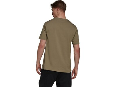 adidas Herren Essentials Embroidered Linear Logo T-Shirt Braun