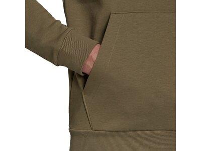 adidas Herren Essentials Fleece Big Logo Hoodie Braun