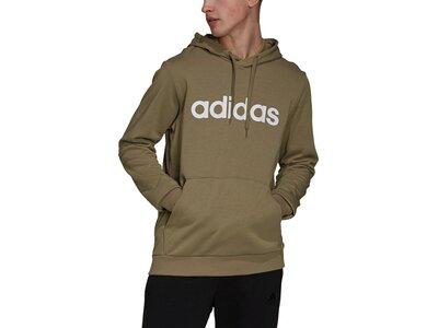 adidas Herren Essentials French Terry Linear Logo Hoodie Braun