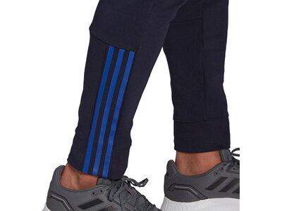 adidas Herren Essentials Matte Cut 3-Streifen Hose Schwarz