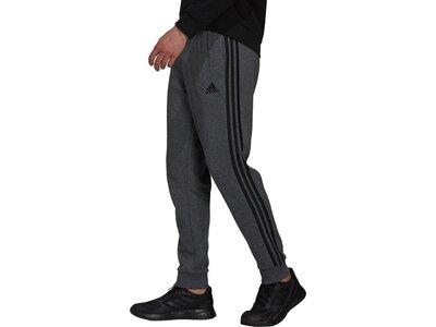 adidas Herren Essentials French Terry Tapered Cuff 3-Streifen Hose Grau