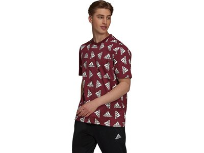 adidas Herren Essentials Loose Giant Logo T-Shirt – Genderneutral Rot