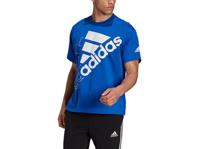 adidas Essentials Logo T-Shirt – Genderneutral Blau