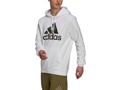 adidas Herren Essentials Fleece Camo-Print Hoodie Grau