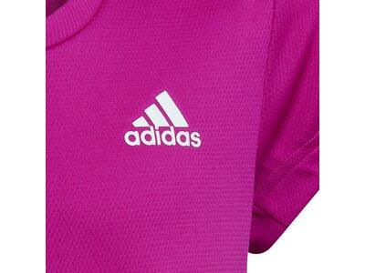 adidas Kinder AEROREADY 3-Streifen T-Shirt Rot