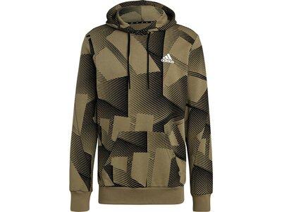 adidas Herren Sportswear Graphic Hoodie Silber